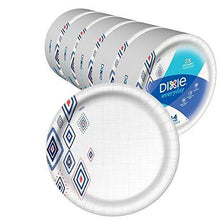 "Load image into Gallery viewer, 10 1/16"" Plate, Dinner Size Printed Disposable Plates, (5 Pack of 44 Plates), 220 Count"