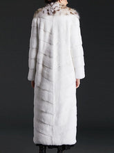 Load image into Gallery viewer, Designer Imitation Mink Fur Long Trench Overcoats
