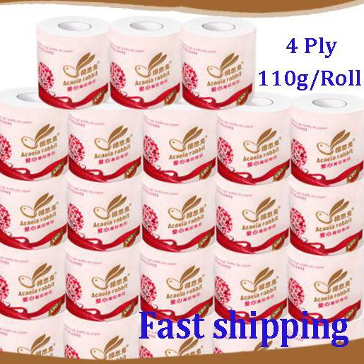 Toilet Paper Bulk Rolls Bath Tissue White Soft 4 Ply 110g / Roll