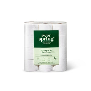 100% Recycled Toilet Paper-4 Rolls