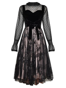 Sexy Muslin Lace Lace-up Party Dress