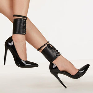 Pointy Toe Corset Stiletto High Heels Shoes