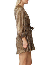 Load image into Gallery viewer, V-Neck Glitter Long Sleeve Dress with Belt