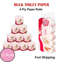 Load image into Gallery viewer, Toilet Paper Bulk Rolls Bath Tissue White Soft 4 Ply 110g / Roll
