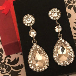 Dangle Rhinestone Eardrop Earrings