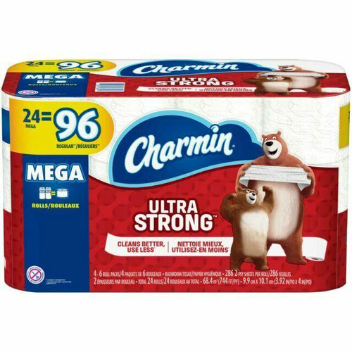 Ultra Strong Toilet Paper, Mega Roll - 24 Count