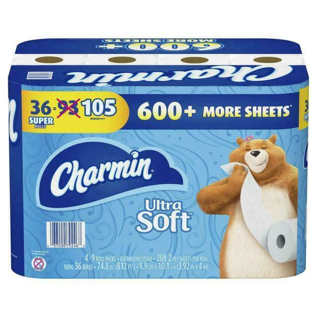 Ultra Soft Toilet Paper, 36 Double Rolls - White