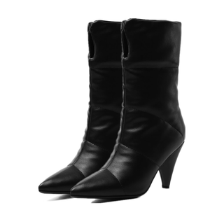 Subuliform Heel Mid-Calf Booties Snow Boots