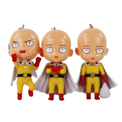 Porte-Clé One Punch Man<br> Saitama multi version - Super Héros Store