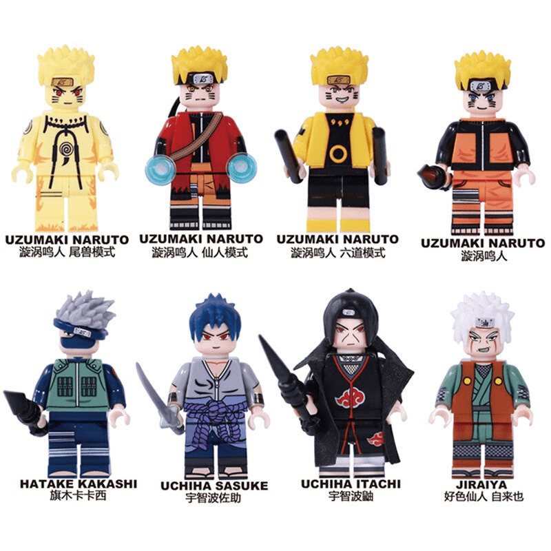 Lego Naruto<br> Pack 8 Figurines - Super Héros Store