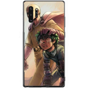 Coque One Punch Man Samsung<br> Saitama & Izuku - Super Héros Store