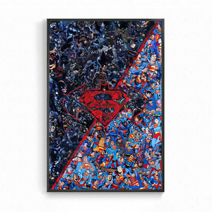 Poster Batman <br/>VS Superman Mosaïque - Super Héros Store