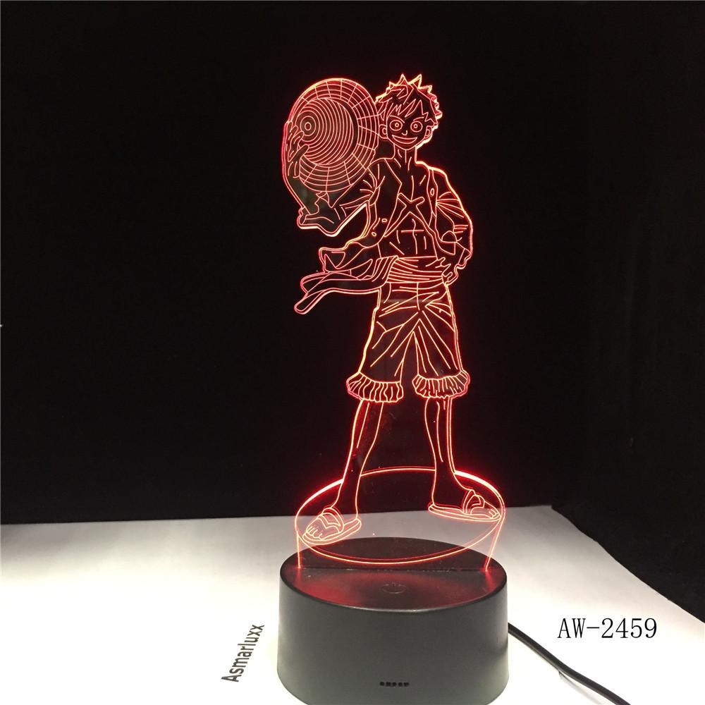 Lampe Acrylique One Piece<br> Monkey D. Luffy - Super Héros Store