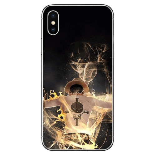 Coque One Piece iPhone<br> Ace Poings Ardents - Super Héros Store
