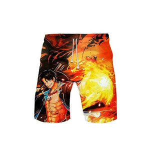 Short One Piece<br> Portgas D. Ace - Super Héros Store