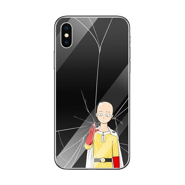Coque One Punch Man iPhone<br> Saitama One Finger - Super Héros Store