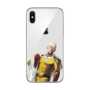 Coque One Punch Man iPhone<br> Saitama Course - Super Héros Store