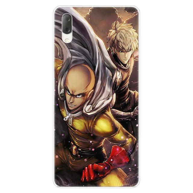 Coque One Punch Man Sony<br> Saitama & Genos - Super Héros Store