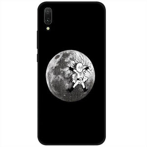 Coque One Punch Man Huawei<br> Saitama Lune - Super Héros Store