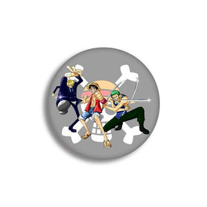 Pin's One Piece <br> Zoro, Sanji et Luffy - Super Héros Store