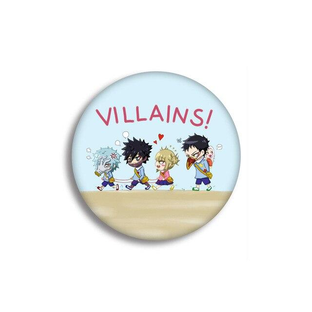 Pin's My Hero Academia<br> Super Vilains - Super Héros Store