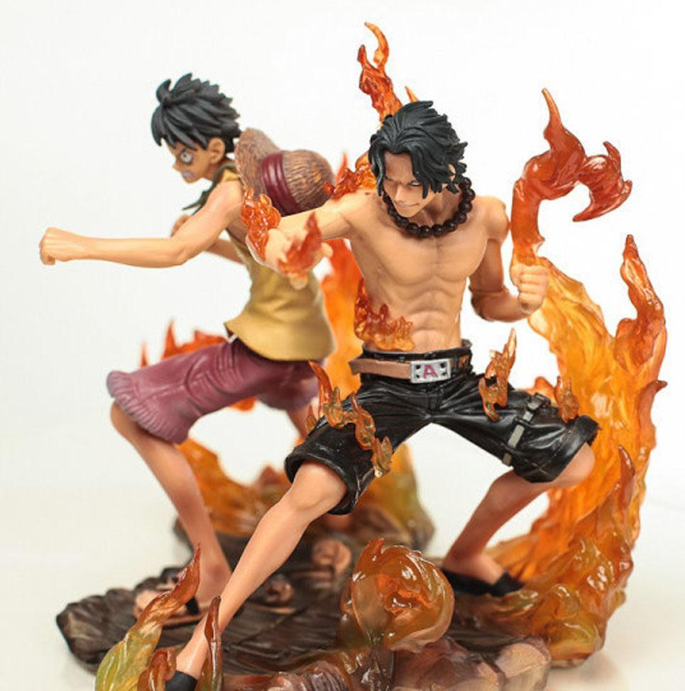 Figurine One Piece<br>Luffy & Ace (15cm) - Super Héros Store