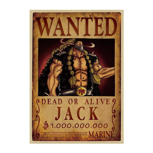 Poster One Piece Wanted<br> Jack - Super Héros Store