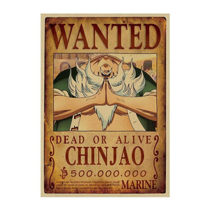 Poster One Piece Wanted<br> Chinjao - Super Héros Store