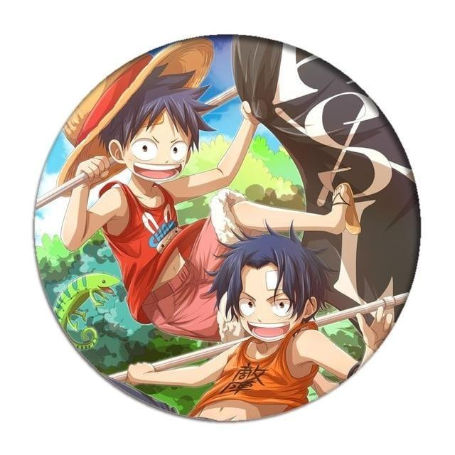 Pin's One Piece <br> Luffy et Ace - Super Héros Store
