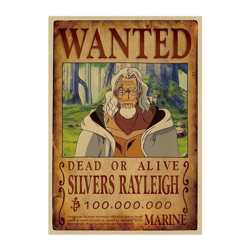 Poster One Piece Wanted<br> Rayleigh - Super Héros Store