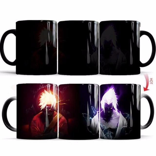 Mug Thermosensible Naruto vs Sasuke - Super Héros Store