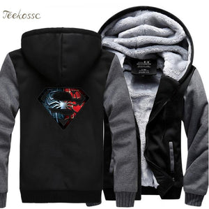 Veste Super Heros Polaire <br/>Superman X Spider-Man - Super Héros Store