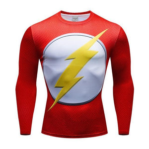 T-Shirt Musculation Long The Flash - Super Héros Store