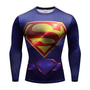 T-Shirt Musculation Long Superman DC Comics - Super Héros Store
