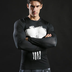 T-Shirt Musculation Long The Punisher - Super Héros Store