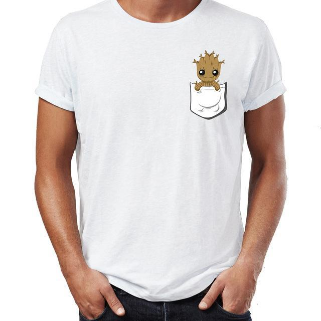 T-Shirt Marvel <br/>Groot Pocket - Super Héros Store