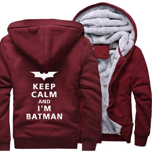 Veste Super Heros <br/>Polaire Batman Keep Calm - Super Héros Store