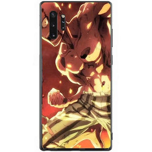 Coque One Punch Man Samsung<br> Saitama vs Roi des Monstroterres - Super Héros Store