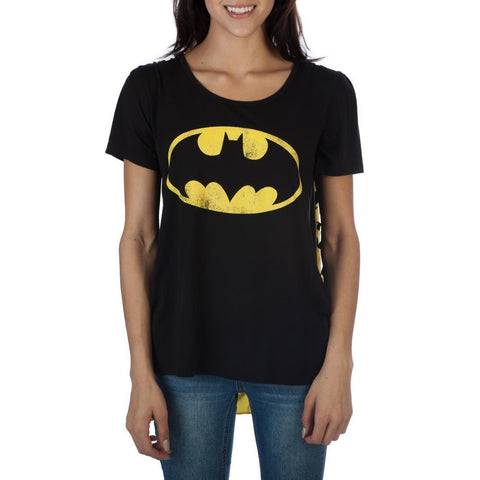 DC Comics Batman Bat Logo 2 Capes Tee Shirt