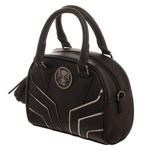 Black Panther Satchel Handbag with Crossbody Strap