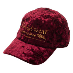 Harry Potter Crushed Velvet Hat Embroidered Marauders Vow Hat