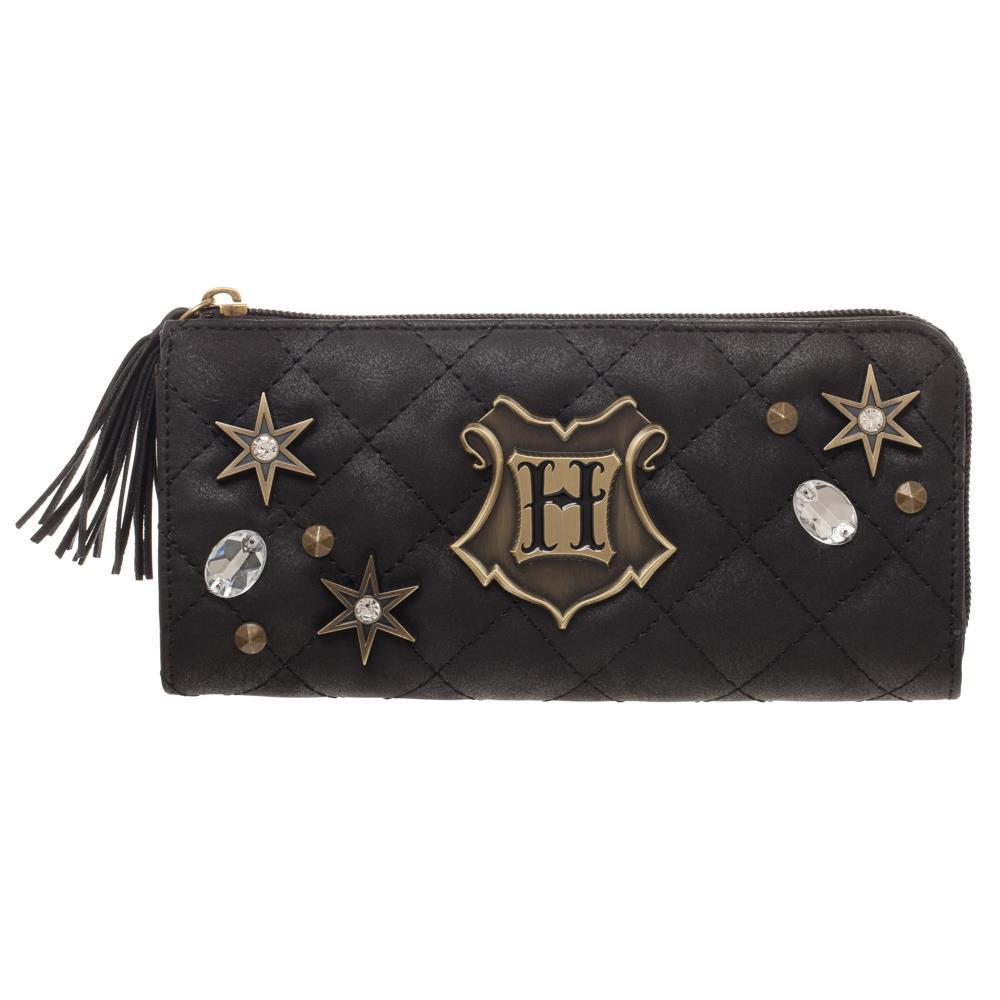 Harry Potter Hogwarts Black Quilted Wallet