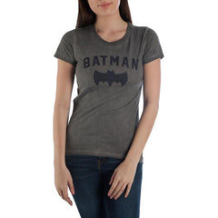 DC Comics Charcoal with Black Batman and Bat Tee Shirt