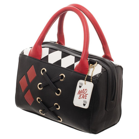 DC Comics Harley Quinn Diamond Mini Satchel Bag Handbag