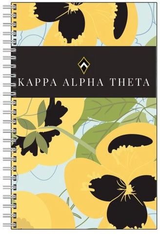 New Item: Kappa Alpha Theta Pansy Printed on Front and Back Notebook