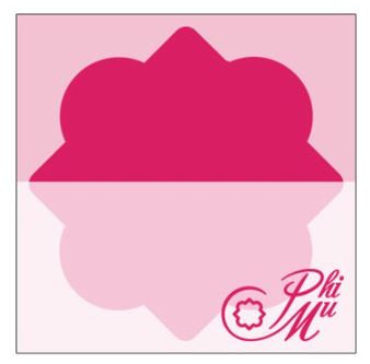 Phi Mu 5 pack Sticky Notes-Quatrefoil and Logo Pink Print