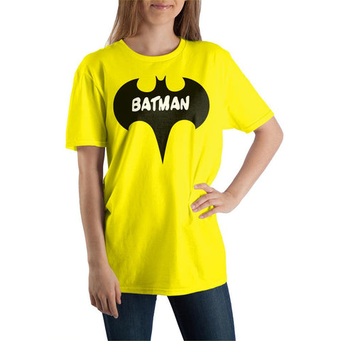 DC Comics Batman Black with White Logo Tee Shirt