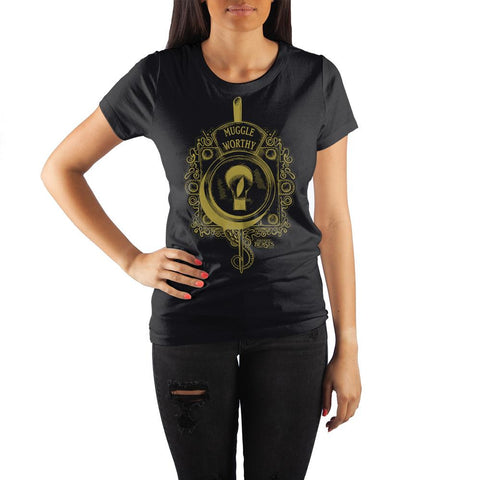 Harry Potter Fantastic Beasts Muggle Worthy Lock Women's Black T-Shirt