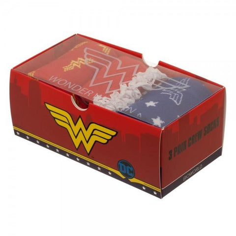 DC Comics Wonder Woman 3 Pack Gift Box Set Socks