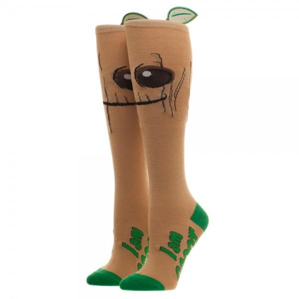 Marvel Comics Guardians Of The Galaxy Groot Knee High Socks